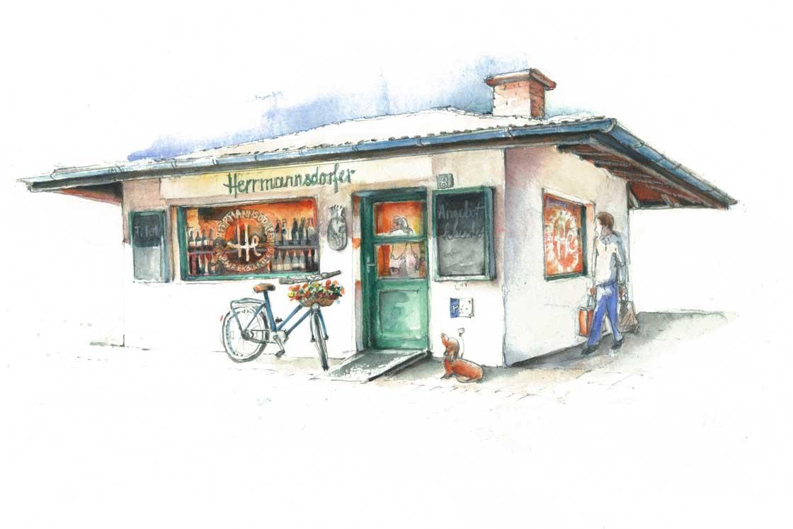 Herrmannsdorfer in Schwabing am ElisabethmarktHerrmannsdorfer in Schwabing am Elisabethmarkt