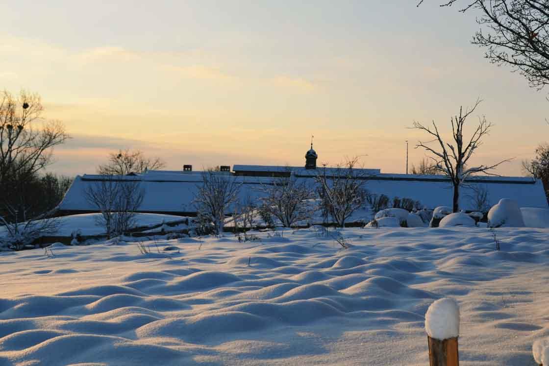 Winterabend in Herrmannsdorf