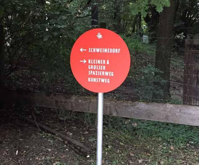 Herrmannsdorfer Besucherleitsystem