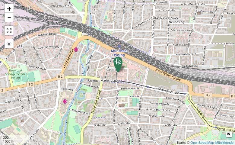 Herrmannsdorfer am Pasinger Viktualienmarkt – OpenStreetMap-Karte