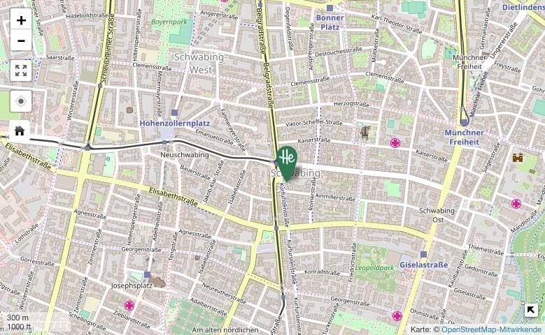 Herrmannsdorfer in Schwabing – OpenStreetMap-Karte
