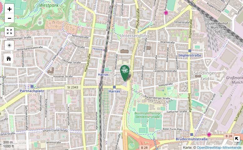 Herrmannsdorfer in Sendling – OpenStreetMap-Karte