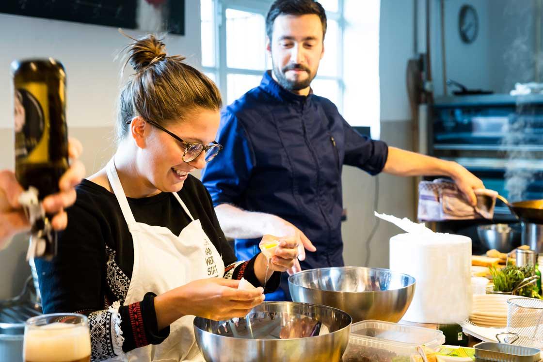 Kochabend in der Herrmannsdorfer Handwerkstatt